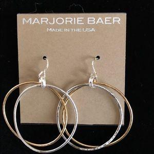 """MAJORIE BAER """"Double Flavor"""" Hoop Earrings, NWT"""